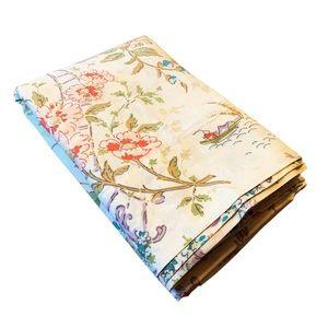 VTG Wamsutta Queen Asian theme flat sheet cotton